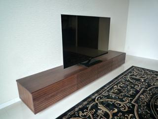 天然木テレビボード-幅2400-ウォールナット-風雅2