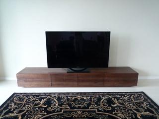 天然木テレビボード-幅2400-ウォールナット-風雅3