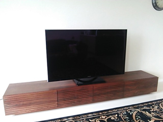 天然木テレビボード-幅2400-ウォールナット-風雅4