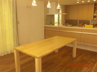 天然木のダイニングテーブル-W1650-メープル-凛