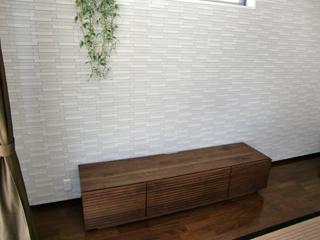 天然木・無垢のテレビボード-W1800-ウォールナット-風雅1