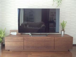 天然木・無垢のテレビボード-W1800-ウォールナット-風雅4