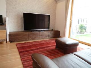 天然木・無垢のテレビボード-W2400-ウォールナット-風雅