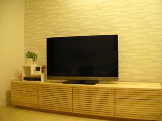 天然木・無垢のテレビボード-W2000-ホワイトオーク-風雅