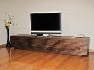 天然木・無垢のテレビ台-W2000-ウォールナット-風雅
