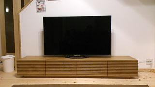 天然木・無垢のテレビボード-W2000-ホワイトオーク-風雅1