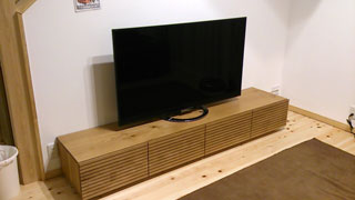 天然木・無垢のテレビボード-W2000-ホワイトオーク-風雅2