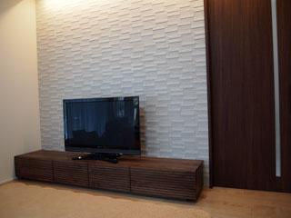 天然木・無垢のテレビボード-W2400-ウォールナット-風雅1