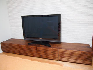 天然木・無垢のテレビボード-W2400-ウォールナット-風雅2