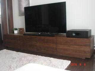 天然木・無垢のテレビボード-W2400-ウォールナット-風雅タイプ2-1
