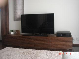 天然木・無垢のテレビボード-W2400-ウォールナット-風雅タイプ2-2