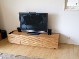 天然木,無垢のテレビボード-幅1800-ブラックチェリー-風雅タイプ2-1