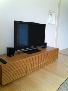 天然木,無垢のテレビボード-幅1800-ブラックチェリー-風雅タイプ2-2