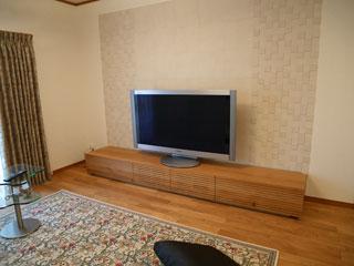 天然木,無垢のテレビボード-幅2400-ホワイトオーク-風雅1
