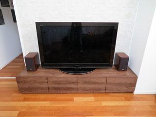 天然木・無垢のテレビボード-幅2000-ウォールナット-風雅タイプ2-2