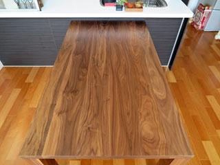 天然木・無垢のダイニングテーブル-W1650-ウォールナット-凛4