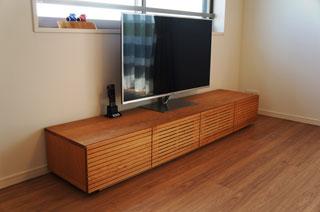 天然木・無垢のテレビボード-W2000-ブラックチェリー-風雅1