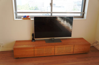 天然木・無垢のテレビボード-W2000-ブラックチェリー-風雅2