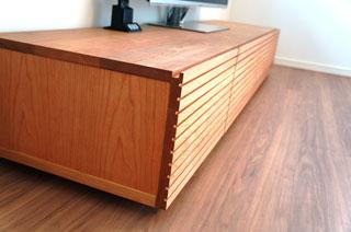 天然木・無垢のテレビボード-W2000-ブラックチェリー-風雅3