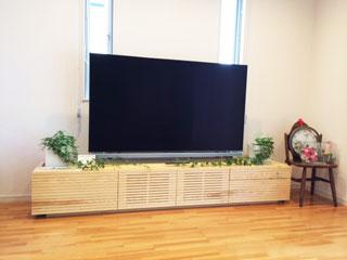 天然木/無垢のテレビボード-幅2400-ホワイトアッシュ-風雅タイプ2-2