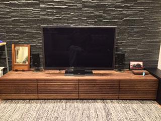天然木、無垢のテレビボード-幅2000-ウォールナット-風雅1