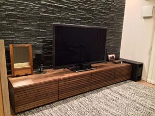 天然木、無垢のテレビボード-幅2000-ウォールナット-風雅2
