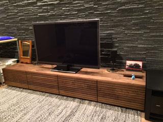 天然木、無垢のテレビボード-幅2000-ウォールナット-風雅3