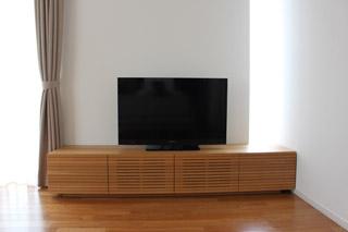 無垢のテレビボード-幅2000-ホワイトオーク-風雅1