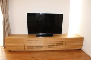 無垢のテレビボード-幅2000-ホワイトオーク-風雅5