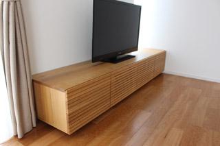 無垢のテレビボード-幅2000-ホワイトオーク-風雅6
