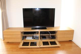 無垢のテレビボード-幅2000-ホワイトオーク-風雅7