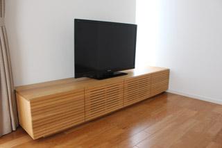 無垢のテレビボード-幅2000-ホワイトオーク-風雅8