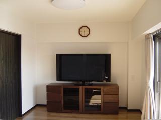 天然木ウォールナットのハイタイプテレビボード幅1800オーダー仕様1