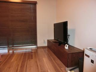 ウォールナットのテレビボード-幅1800-風雅3