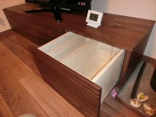 ウォールナットのテレビボード-幅1800-風雅5