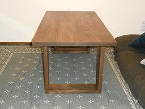 天然木ウォーナットのリビングテーブルW1000-彩美1