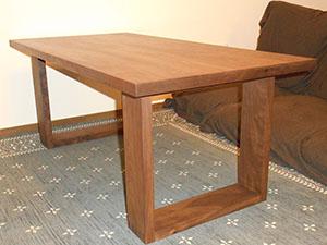 天然木ウォーナットのリビングテーブルW1000-彩美2