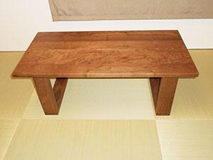 天然木ウォーナットのリビングテーブルW1000-彩美3