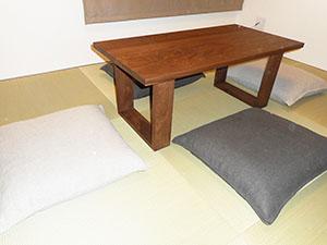 天然木ウォーナットのリビングテーブルW1000-彩美4