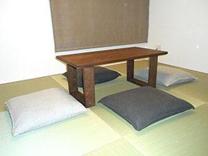 天然木ウォーナットのリビングテーブルW1000-彩美5