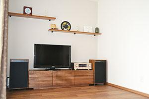 天然木ウォールナットのテレビ台W1500-風雅タイプ2-1