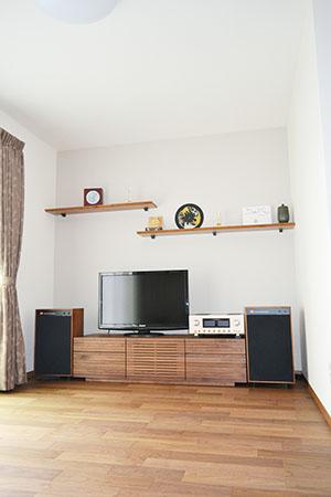 天然木ウォールナットのテレビ台W1500-風雅タイプ2-3