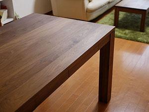 天然木のダイニングテーブル-ウォールナット5