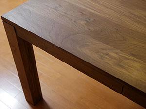 天然木のダイニングテーブル-ウォールナット6