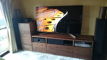オーダー風雅TVボード、サイドキャビネット設置1