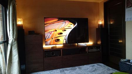 オーダー風雅TVボード、サイドキャビネット設置2