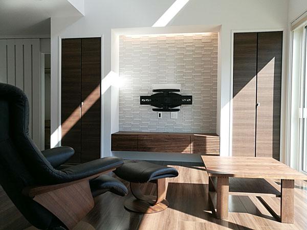 風雅テレビボード 幅1800 ウォールナット 壁掛け仕様1