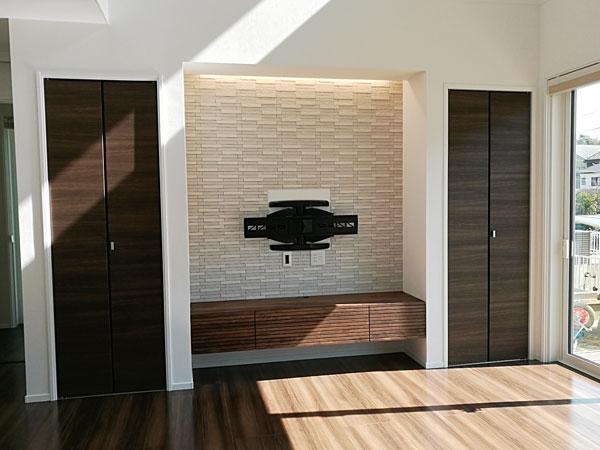 風雅テレビボード 幅1800 ウォールナット 壁掛け仕様2