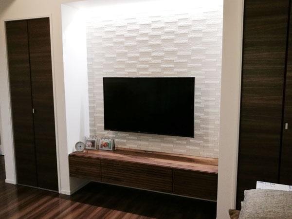 風雅テレビボード 幅1800 ウォールナット 壁掛け仕様3