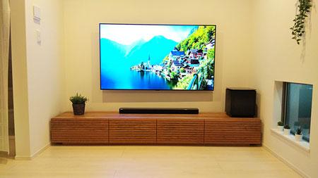 風雅テレビボード ブラックチェリー 幅2300mm-2